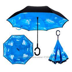 Зонт обратного сложения Up-brella Голубое небо Номер-1