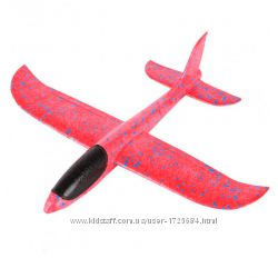 Самолет планер светящийся из пенопласта, 48 см Красный