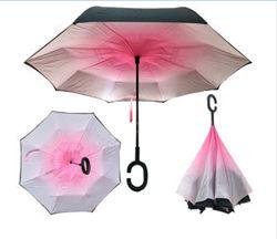 Зонт обратного сложения Up-brella Градиент розовый Номер-55