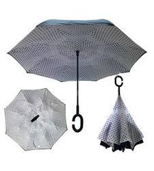 Зонт обратного сложения Up-brella Горошек Номер-58