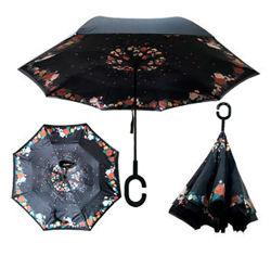 Зонт обратного сложения Up-brella Розы Номер-54