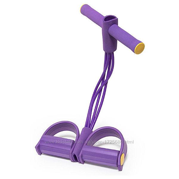 Тренажер с эспандерами Body Trimmer - Фиолетовый