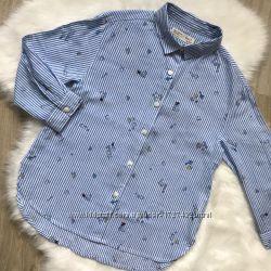 Модная стильная рубашка в полоску Zara блуза блузка на 7 лет 122 см