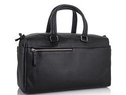 Дорожная кожаная сумка прочная тревел бег черная Tiding Bag SM8-014A