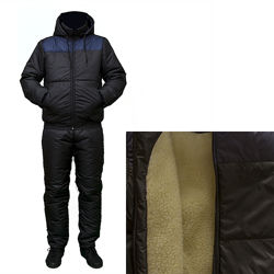 Зимний мужской костюм на синтепоне и овчине куртка и брюки . цвета.