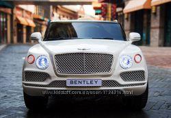 Детский электромобиль Bentley Bentayga premium edition белый