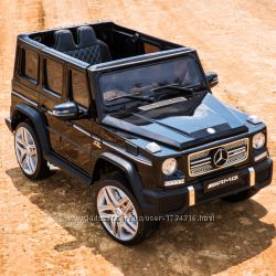 Детский электромобиль Mercedes-Benz G65 AMG premium edition чёрный лак
