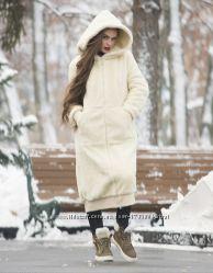 Пальто натуральная овчина зимнее утепленное