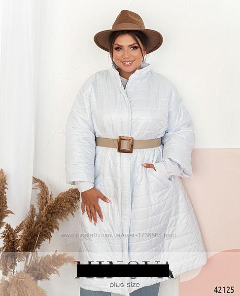 Женская удлиненная куртка больших размеров 50-62
