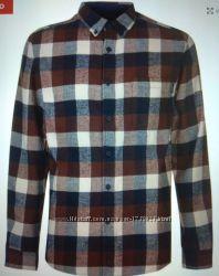 Рубашка мужская фланелевая, ХL, фирменная Pierre Cardin