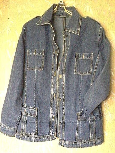 Джинсовая курточка пиджак рубашка от dunnes stores, размер на 14/l-xl