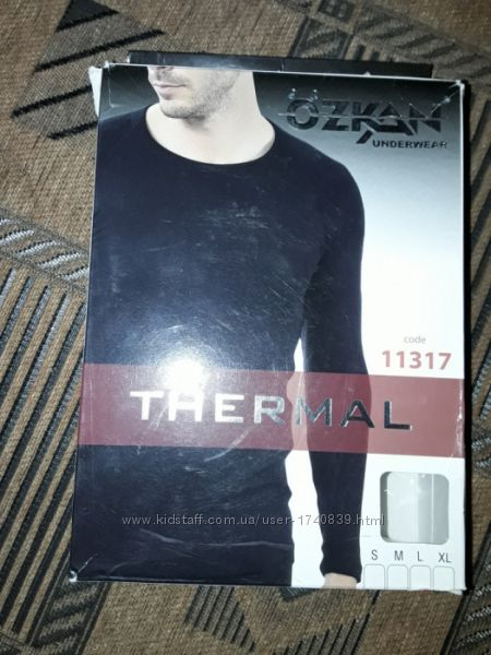 Новая мужская термокофта Турция Ozkan, термо лонгслив, термобельё.