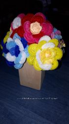 розы из синельной проволочки