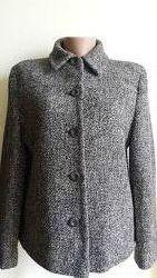Стильный модный удобный теплый шерстяной жакетик осеньвесна цвет серый с ч
