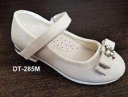 Нарядные перламутровые  туфельки для девочки