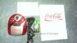 Кока-кола карманное радио с наушниками и фонариком