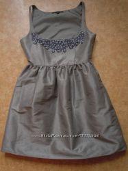 Платье-пачка стального цвета