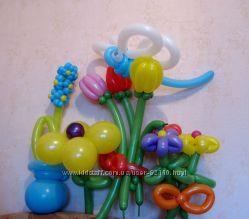 Воздушные шары, фигурки, гелиевые шарики, украшение залов на праздники