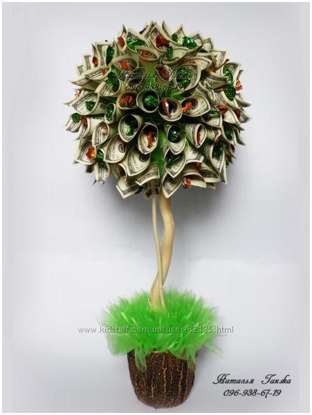 Денежное дерево из конфет своими руками мастер класс 51