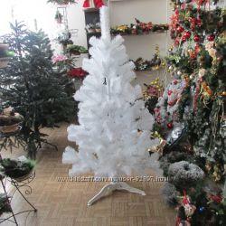 Белые новогодние  елочки