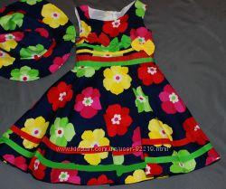 Красивое летнее платье для девочки 3-4 года В наличии
