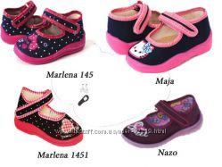 Текстильная обувь для девочек Zetpol, Nazo, Raweks, Viggami, Waldi 18-36 р.