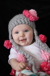 Красивые шапочки для самых маленьких. Большое колличество моделей