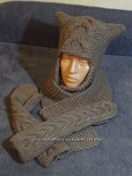Улетная шапка грубой вязки