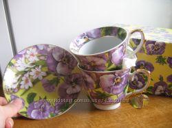 Набор чайных чашек Фиалки