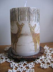 интерьерные свечи, время горения от 50часов, свечи в вышиванках