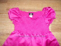 H&M малиновое платье