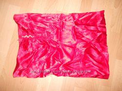 Шелковая красная юбка