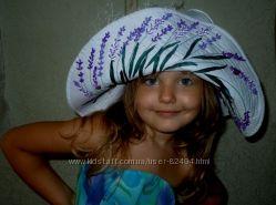 Роскошная шляпка для девочки  Горная лаванда