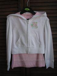 Нежный комплект укороченное худи Джордж и розовая маечка, 110 см