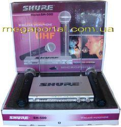 Shure SH-500 радиосистема 2 микрофона ультратонкая shure sm-58ii
