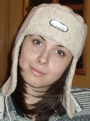 Флисовая шапочка ушанка в идеальном состоянии