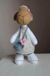 Интерьерная игрушка-овечка. Отличный подарок handmade