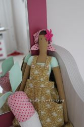 Интерьерная игрушка-кукла Тильда Огородница