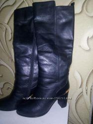 Cапоги зимние натуральная кожа 36 р внутри натур мех