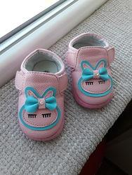 12см туфли слипоны на липучках для малышки