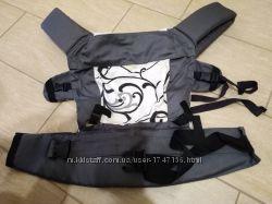 Регулируемый слингорюкзак переноска Серый винтаж Katinka