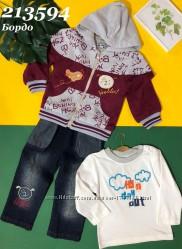 Детский костюм-тройка цвета - бордо