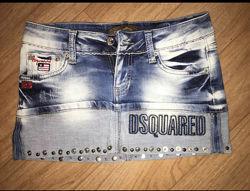 Джинсовая мини-юбка Dsquared2