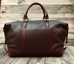 Сумка дорожная кожаная , спортивная сумка, кожаная мужская сумка