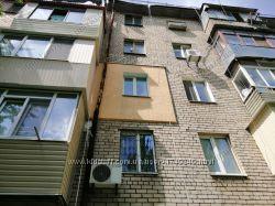 Утепление стен фасадов пенопластом 100 мм, плотность 25