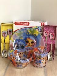 Детский набор посуды из стекла Лол