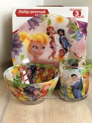 Детский набор посуды из стекла Феи