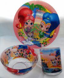 Детская посуда Шиммер Шайн 3 предмета стекло