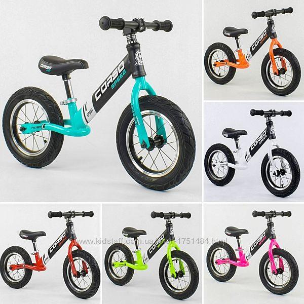Велобег CORSO стальная рама, колесо 12 надувные колёса беговел