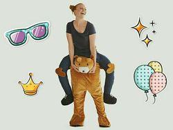 Карнавальные костюмы наездники верхом на медведе и на обезьяне